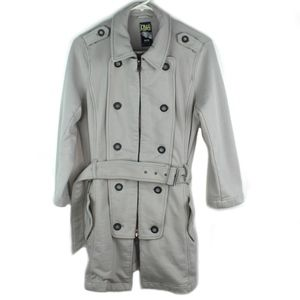 Free People Pea Trench Coat Womens Medium Gray EUC